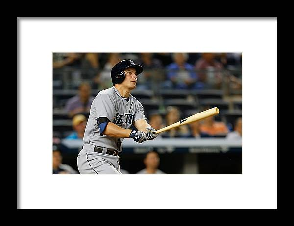 Ninth Inning Framed Print featuring the photograph Kyle Seager by Mike Stobe
