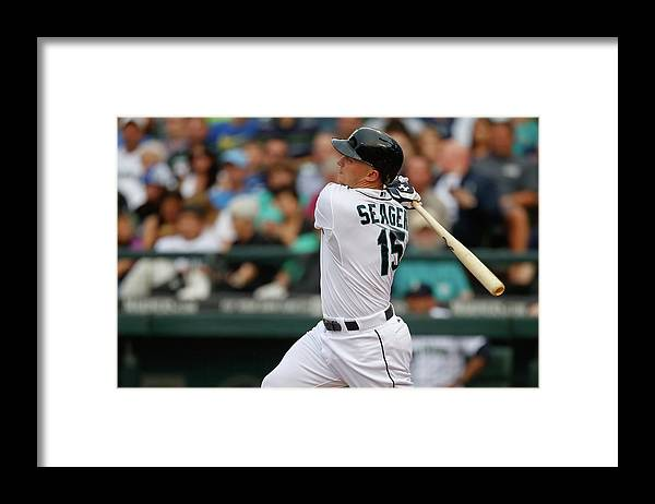 Second Inning Framed Print featuring the photograph Kyle Seager by Otto Greule Jr