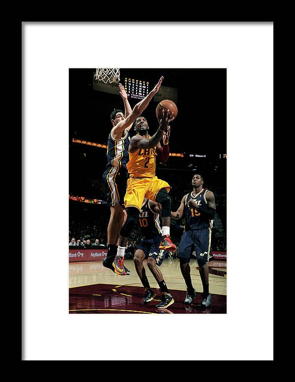 Nba Pro Basketball Framed Print featuring the photograph Kyrie Irving and Enes Kanter by David Liam Kyle