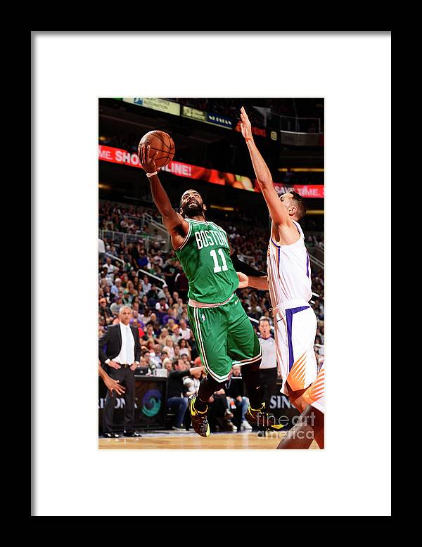 Nba Pro Basketball Framed Print featuring the photograph Kyrie Irving by Barry Gossage