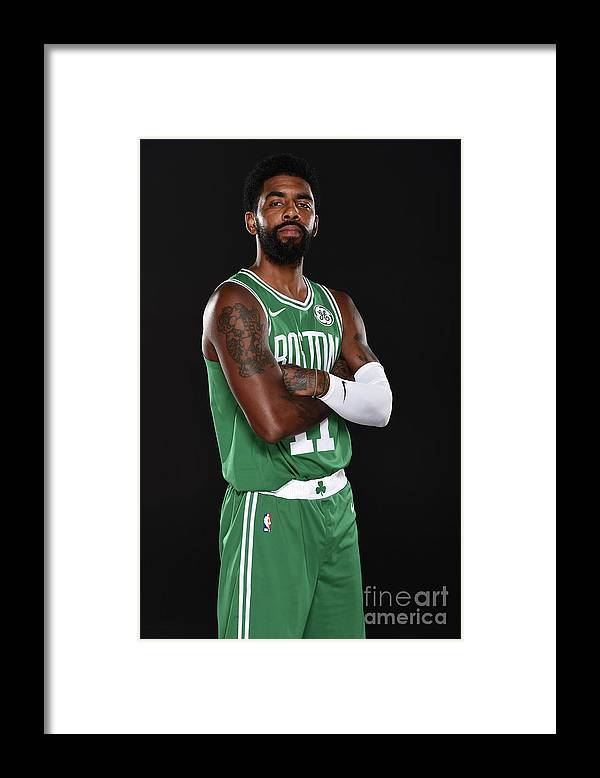 Media Day Framed Print featuring the photograph Kyrie Irving by Brian Babineau
