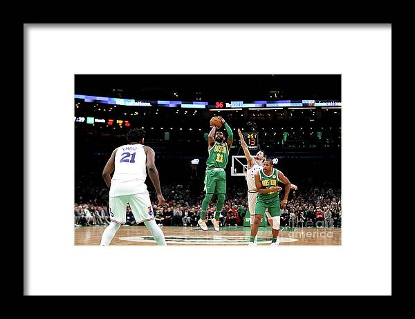 Nba Pro Basketball Framed Print featuring the photograph Kyrie Irving by Chris Marion