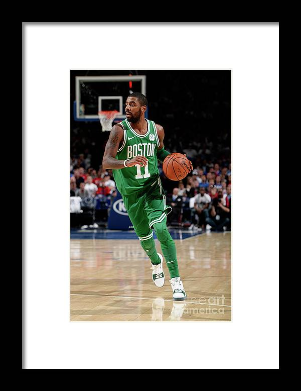 Nba Pro Basketball Framed Print featuring the photograph Kyrie Irving by David Dow