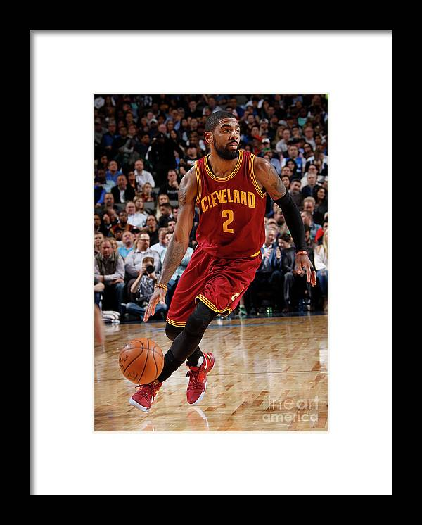 Nba Pro Basketball Framed Print featuring the photograph Kyrie Irving by Glenn James