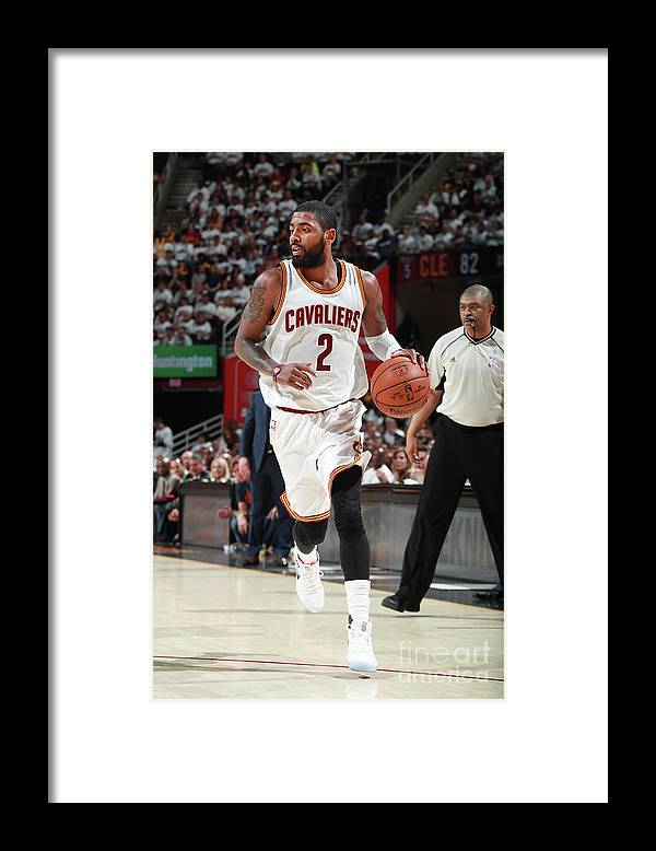 Playoffs Framed Print featuring the photograph Kyrie Irving by Jeff Haynes