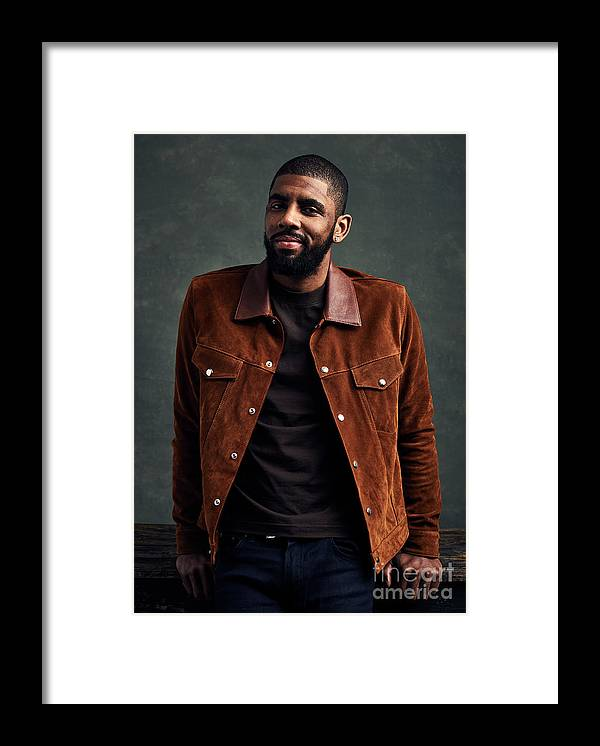 Event Framed Print featuring the photograph Kyrie Irving by Jennifer Pottheiser