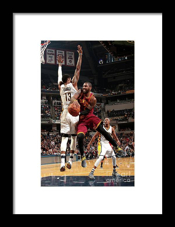 Nba Pro Basketball Framed Print featuring the photograph Kyrie Irving by Ron Hoskins