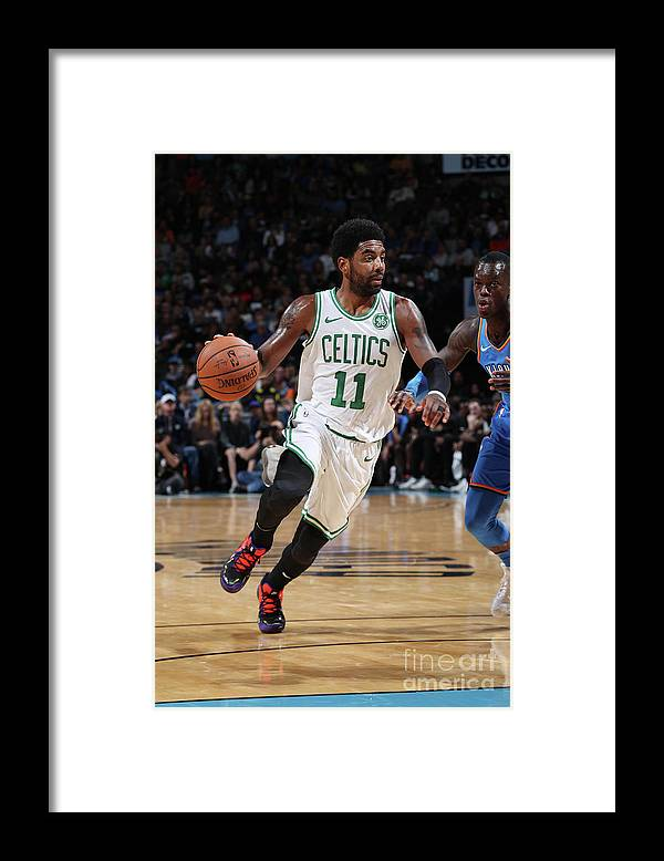 Nba Pro Basketball Framed Print featuring the photograph Kyrie Irving by Zach Beeker