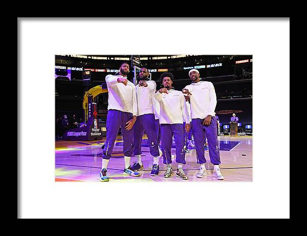 Playoffs Framed Print featuring the photograph LA Clippers v Los Angeles Lakers by Andrew D. Bernstein