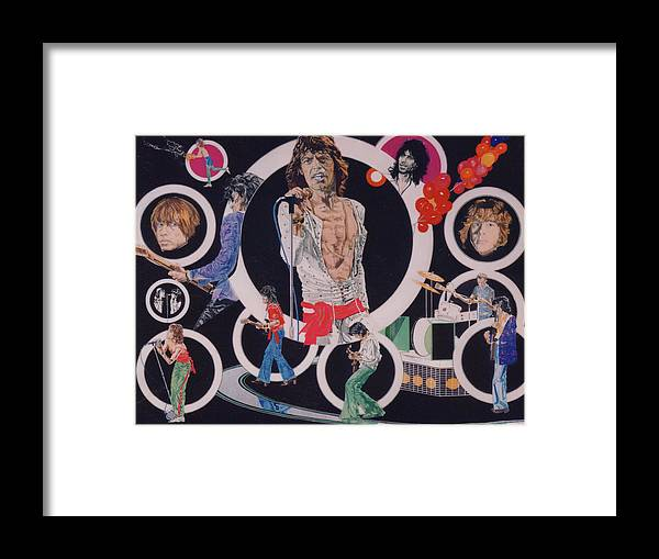 The Rolling Stones Framed Print featuring the drawing Ladies And Gentlemen - The Rolling Stones by Sean Connolly