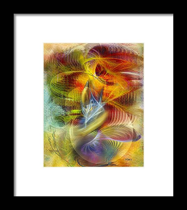 Affordable Art Framed Print featuring the digital art Lady And Her Shells by John Robert Beck