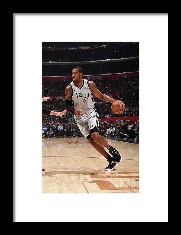 Nba Pro Basketball Framed Print featuring the photograph Lamarcus Aldridge by Adam Pantozzi