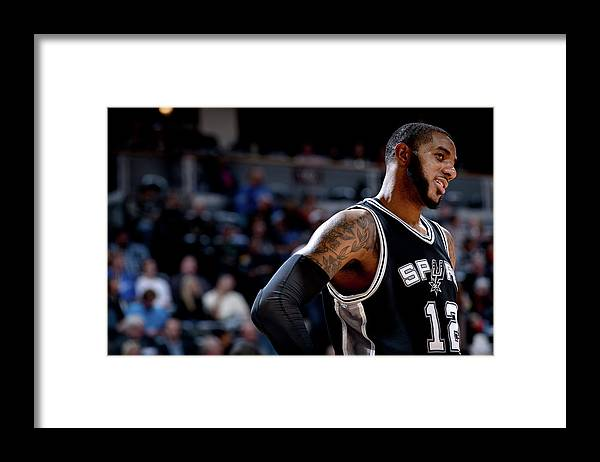 Nba Pro Basketball Framed Print featuring the photograph Lamarcus Aldridge by Bart Young