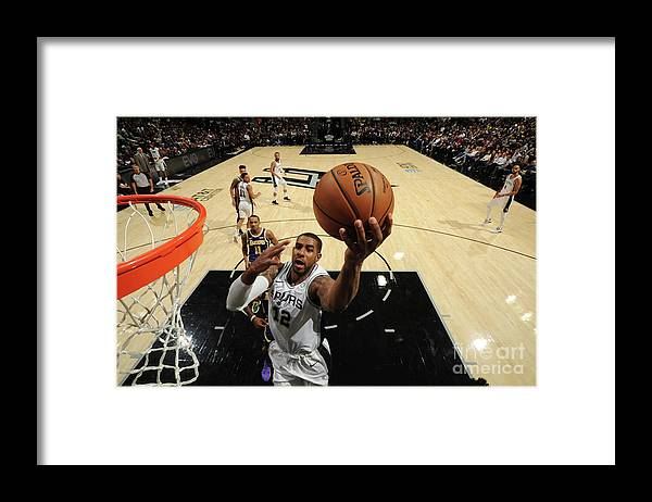 Nba Pro Basketball Framed Print featuring the photograph Lamarcus Aldridge by Bill Baptist