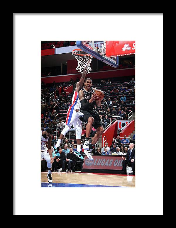 Nba Pro Basketball Framed Print featuring the photograph Lamarcus Aldridge by Brian Sevald