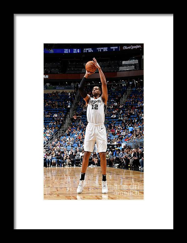 Nba Pro Basketball Framed Print featuring the photograph Lamarcus Aldridge by Fernando Medina