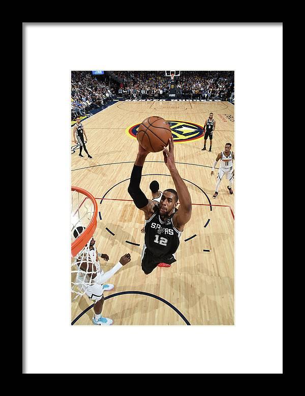 Playoffs Framed Print featuring the photograph Lamarcus Aldridge by Garrett Ellwood