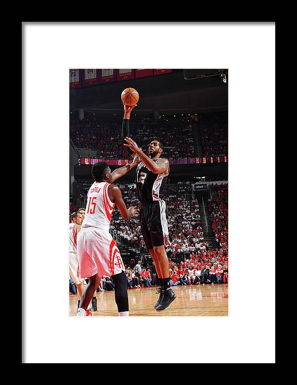 Playoffs Framed Print featuring the photograph Lamarcus Aldridge by Jesse D. Garrabrant