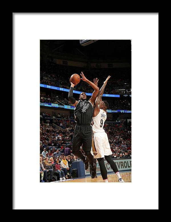 Smoothie King Center Framed Print featuring the photograph Lamarcus Aldridge by Layne Murdoch