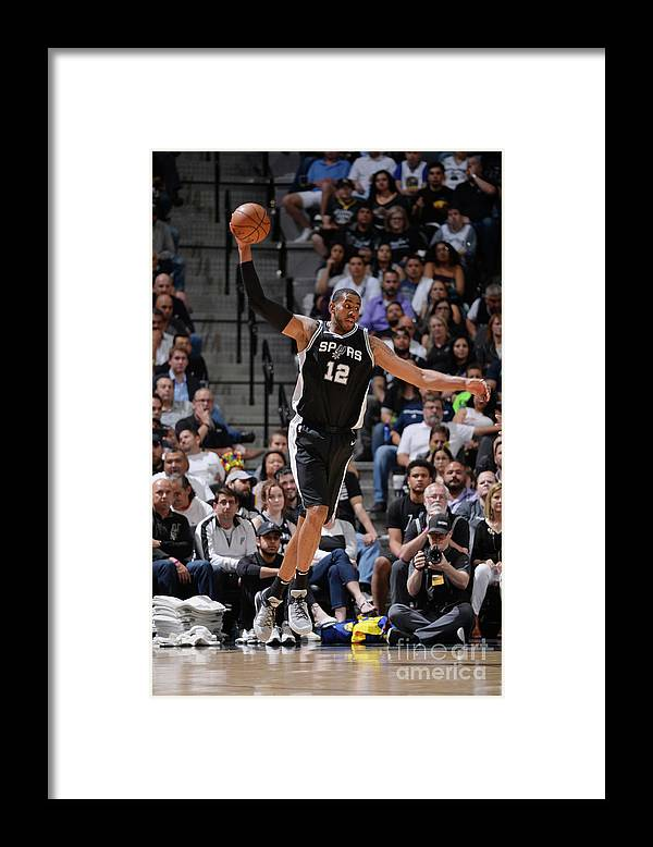Sports Ball Framed Print featuring the photograph Lamarcus Aldridge by Mark Sobhani
