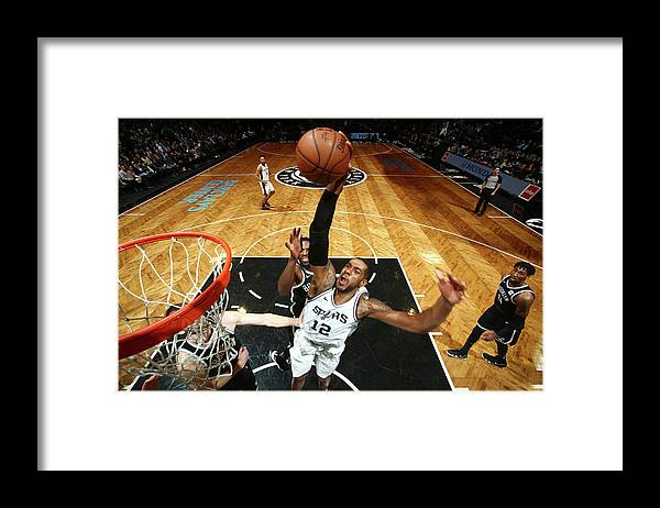 Nba Pro Basketball Framed Print featuring the photograph Lamarcus Aldridge by Nathaniel S. Butler