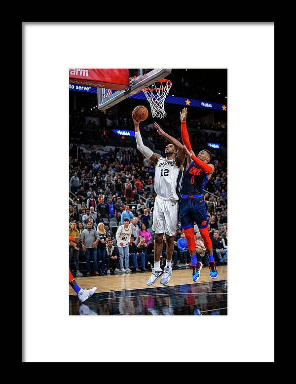 Nba Pro Basketball Framed Print featuring the photograph Lamarcus Aldridge by Zach Beeker