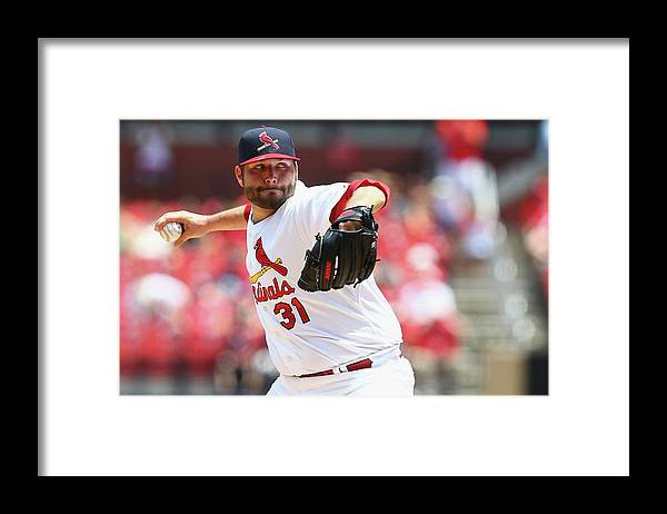 St. Louis Cardinals Framed Print featuring the photograph Lance Lynn by Dilip Vishwanat