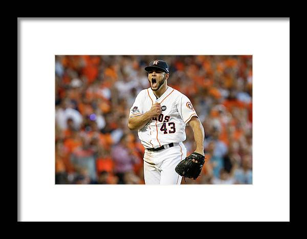 Three Quarter Length Framed Print featuring the photograph Lance Mccullers by Bob Levey
