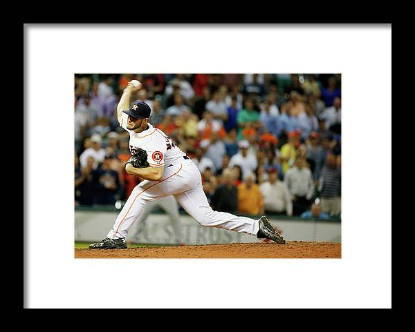 Ninth Inning Framed Print featuring the photograph Lance Mccullers by Scott Halleran