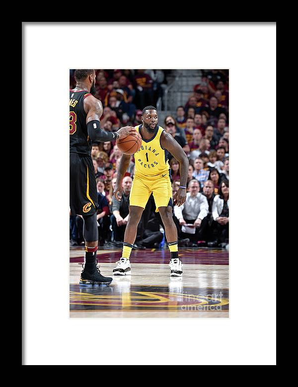 Playoffs Framed Print featuring the photograph Lance Stephenson and Lebron James by David Liam Kyle