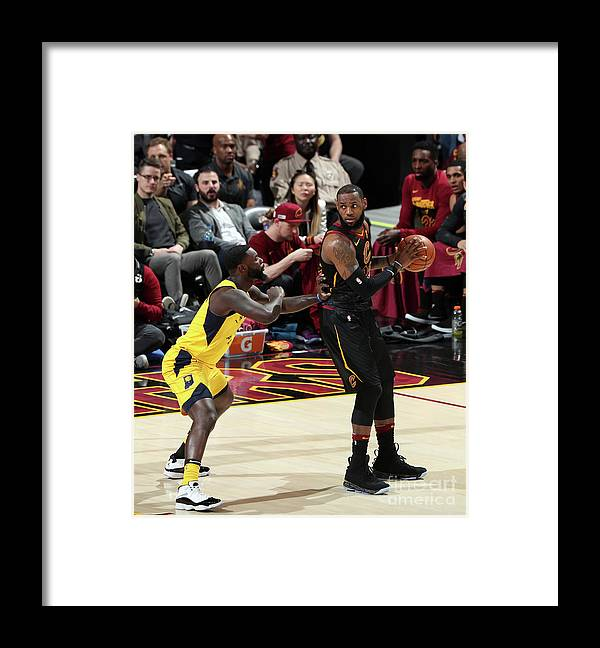 Playoffs Framed Print featuring the photograph Lance Stephenson and Lebron James by Nathaniel S. Butler
