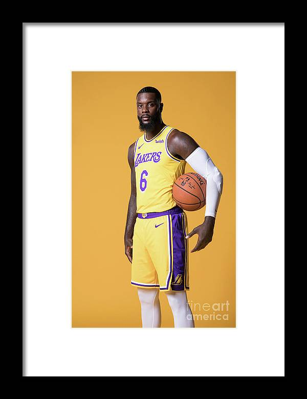 Media Day Framed Print featuring the photograph Lance Stephenson by Atiba Jefferson