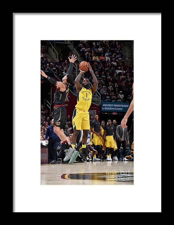 Playoffs Framed Print featuring the photograph Lance Stephenson by David Liam Kyle