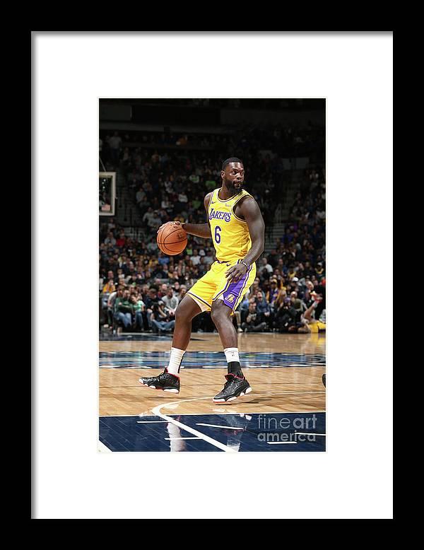 Nba Pro Basketball Framed Print featuring the photograph Lance Stephenson by David Sherman
