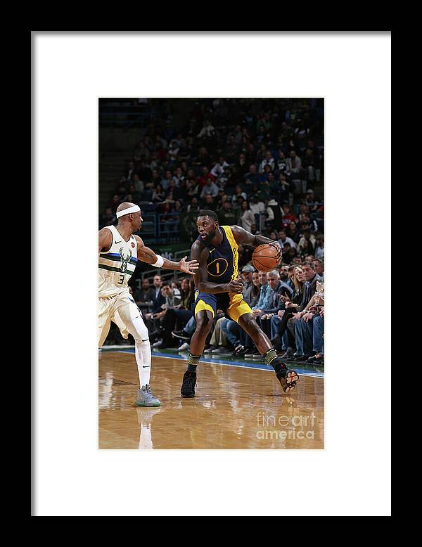 Nba Pro Basketball Framed Print featuring the photograph Lance Stephenson by Gary Dineen