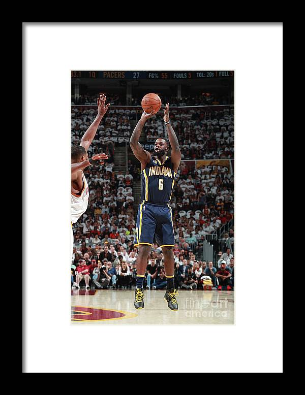 Playoffs Framed Print featuring the photograph Lance Stephenson by Jeff Haynes