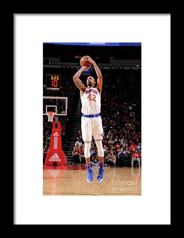 Nba Pro Basketball Framed Print featuring the photograph Lance Thomas by Bill Baptist