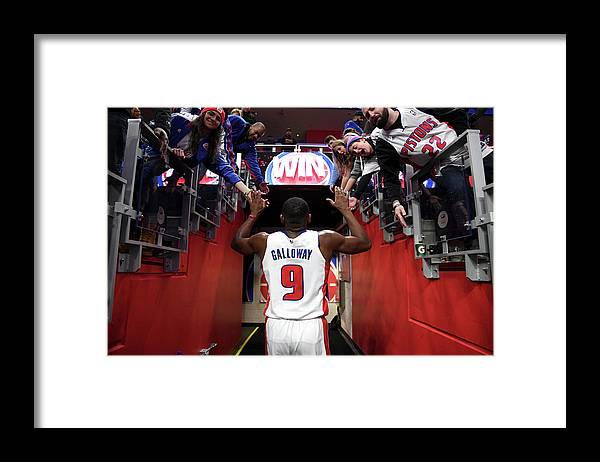 Nba Pro Basketball Framed Print featuring the photograph Langston Galloway by Chris Schwegler
