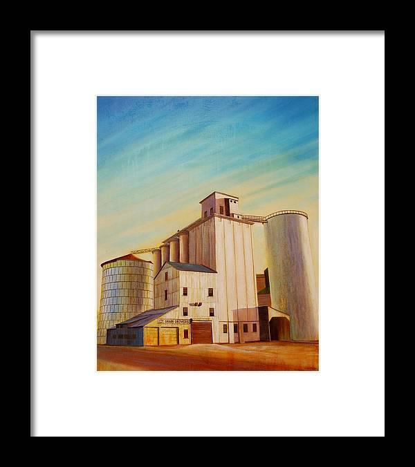 Grain Framed Print featuring the painting Latah County Grain Growers by Leonard Heid