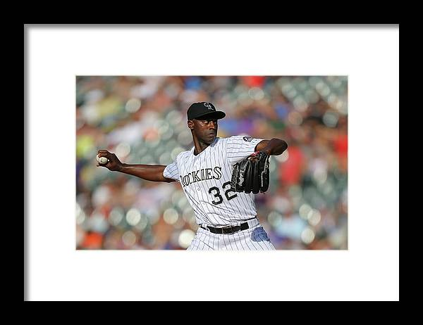 Ninth Inning Framed Print featuring the photograph Latroy Hawkins by Justin Edmonds