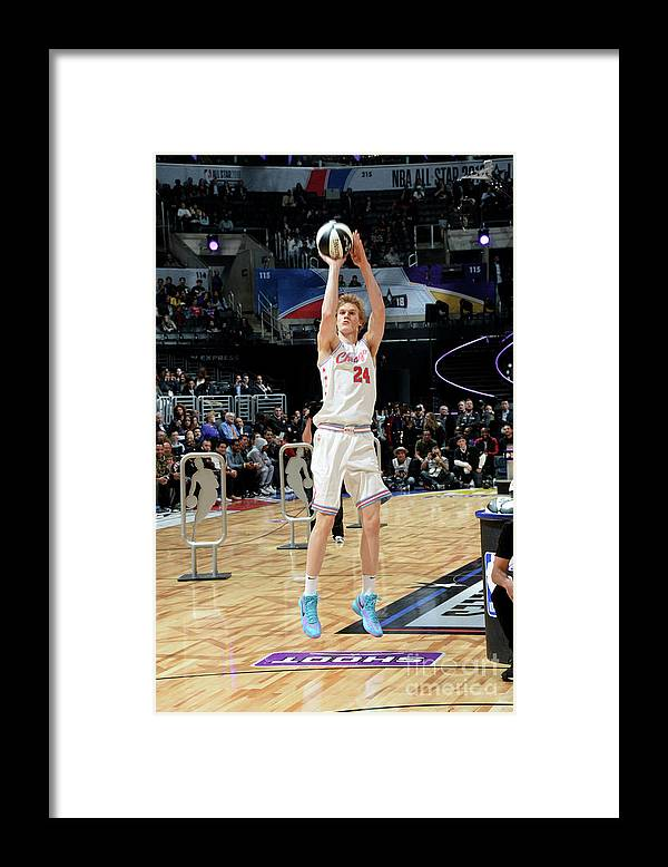 Event Framed Print featuring the photograph Lauri Markkanen by Andrew D. Bernstein