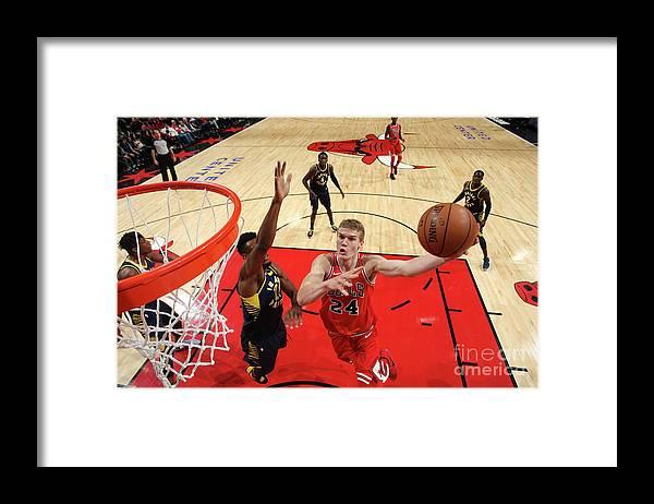 Chicago Bulls Framed Print featuring the photograph Lauri Markkanen by Gary Dineen