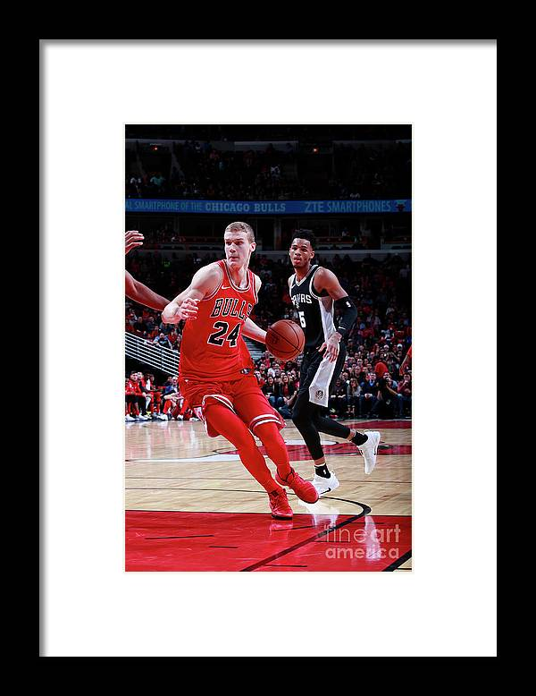 Chicago Bulls Framed Print featuring the photograph Lauri Markkanen by Jeff Haynes