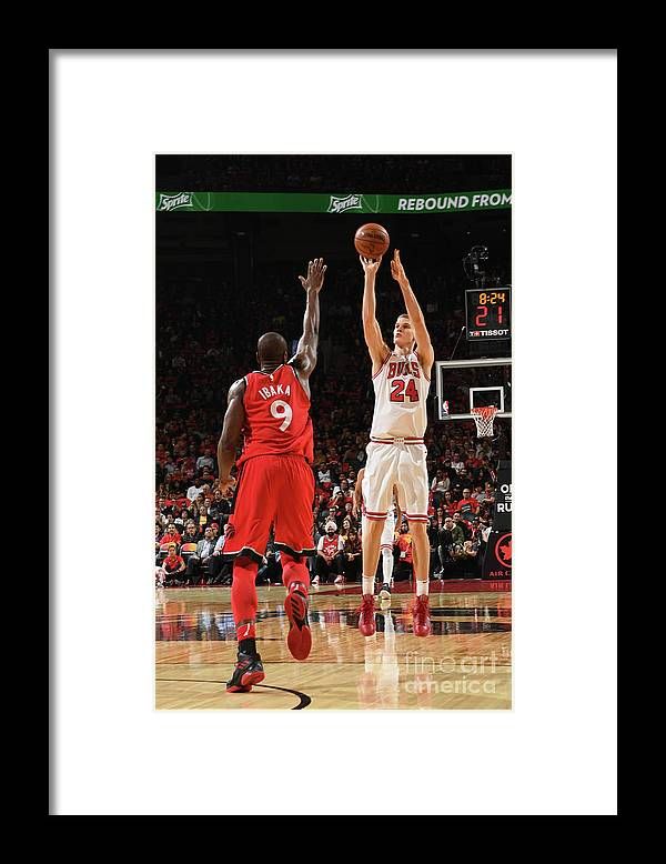 Chicago Bulls Framed Print featuring the photograph Lauri Markkanen by Ron Turenne