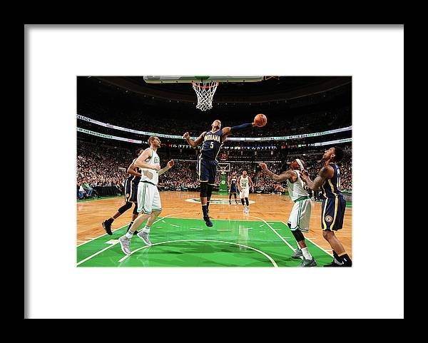 Nba Pro Basketball Framed Print featuring the photograph Lavoy Allen by Brian Babineau