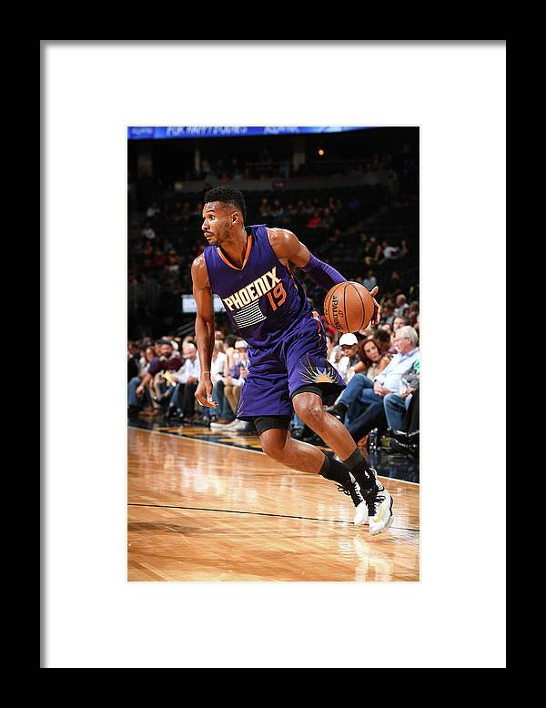 Nba Pro Basketball Framed Print featuring the photograph Leandro Barbosa by Garrett Ellwood