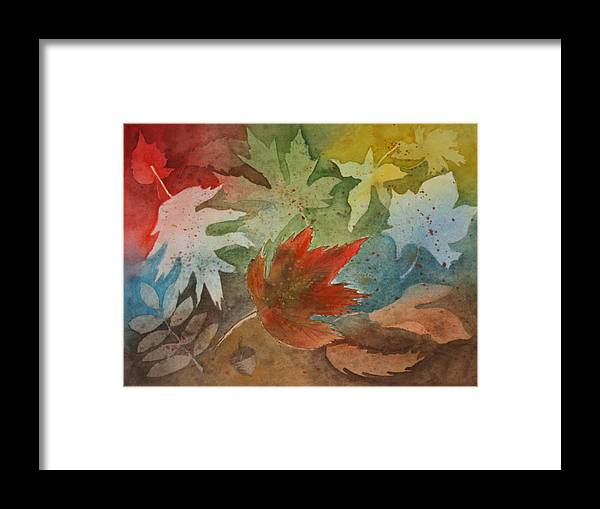Leaves Framed Print featuring the painting Leaves II by Patricia Novack