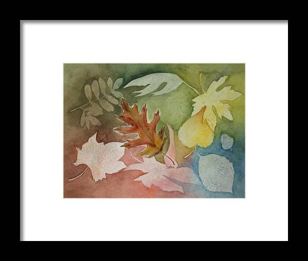 Leaves Framed Print featuring the painting Leaves IV by Patricia Novack