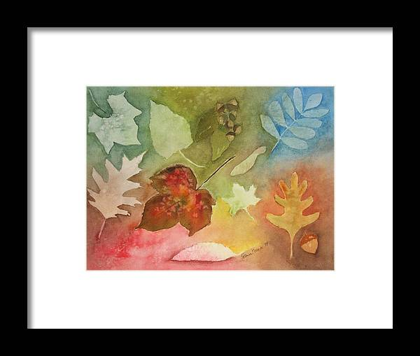 Leaves Framed Print featuring the painting Leaves V by Patricia Novack