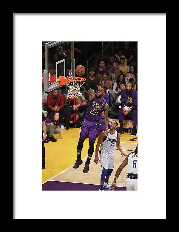 Nba Pro Basketball Framed Print featuring the photograph Lebron James by Adam Pantozzi